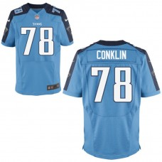 Youth Tennessee Titans #78 Jack Conklin Light Blue Alternate Game Jersey