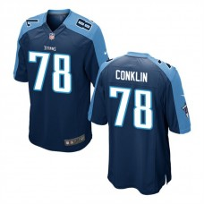 Youth Tennessee Titans #78 Jack Conklin Navy Game Jersey