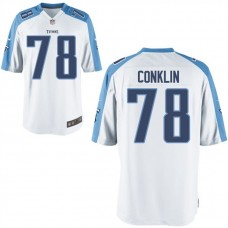 Youth Tennessee Titans #78 Jack Conklin White Game Jersey