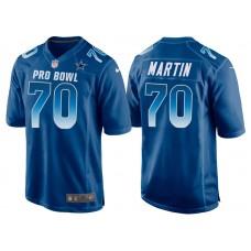 2018 Pro Bowl NFC Dallas Cowboys #70 Zack Martin Royal Game Jersey